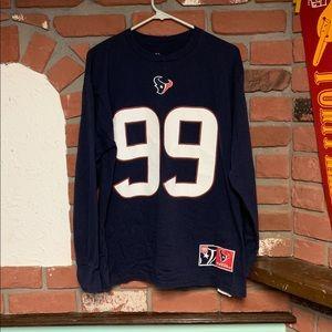 Majestic Texans JJ WATT #99 Longsleeve Tee Sz L